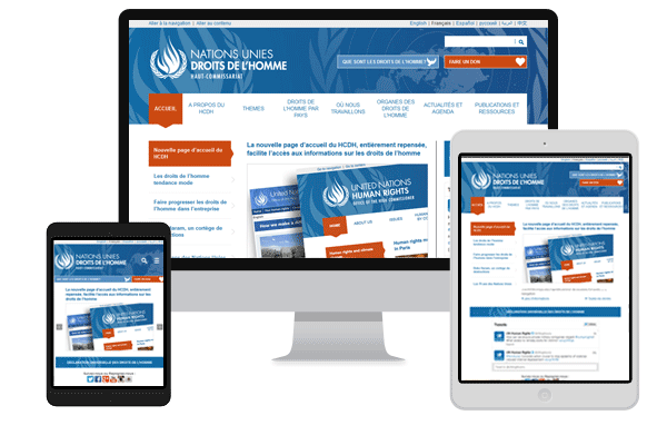 Website of the Office of the United Nations High Commissioner for Human Rights